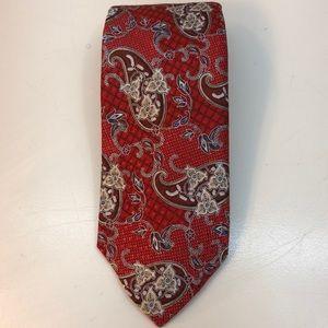 NWT Robert Talbott Red, Beige & Blue Paisley Tie